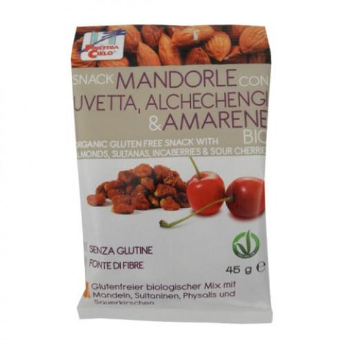 La Finestra Mandľový snack s hroz., mochyňou a višňami BIO 45g