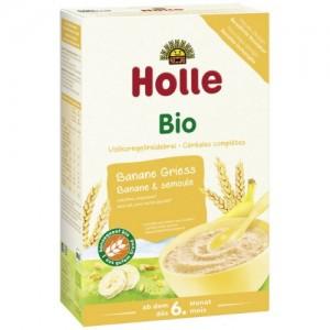 Holle bio ovocná kaša banán-semolina 250g
