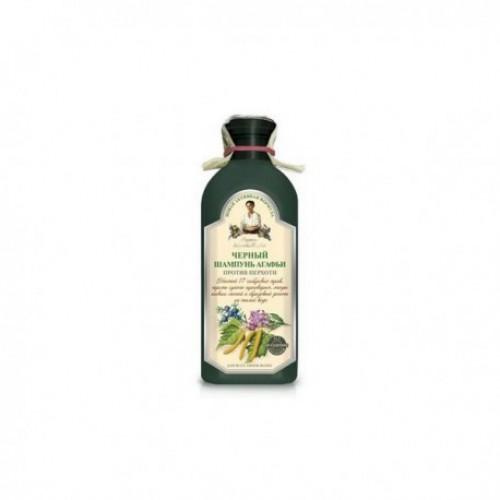 Babička Agáta bylinný čierny šampón proti lupinám 350ml