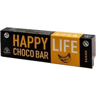 HAPPYLIFE Chocobar čokoládová tyčinka sbanánom 35g