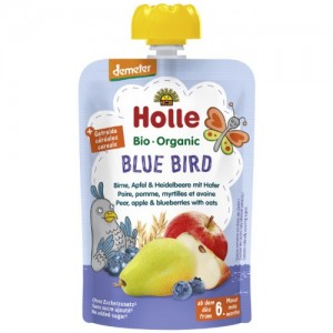 Holle Bio pyré hruška, jablko, čučoriedka a ovos 100g