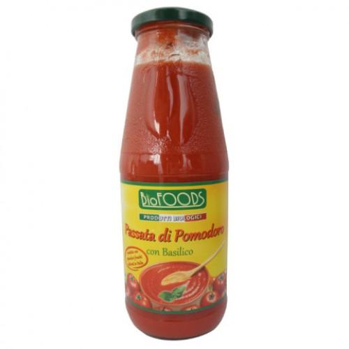 La Finestra Pasírované paradajky bazalka BIO 680g