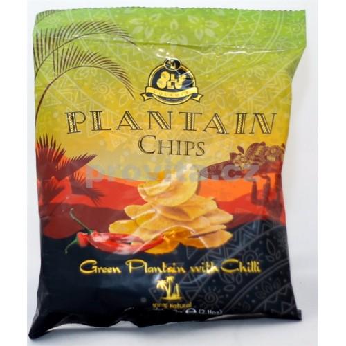 GOURMET Chipsy plantain zelené chilli 60g