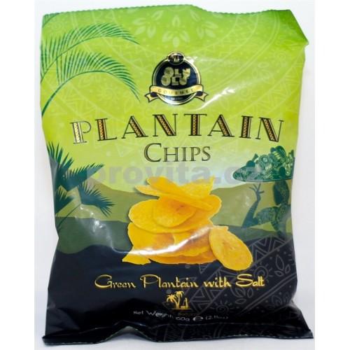 GOURMET Chipsy plantain zelené so soľou 60g