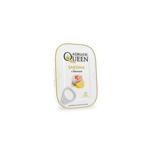 Adriatic Queen Sardinky v sójovom oleji s citrónom 100 g