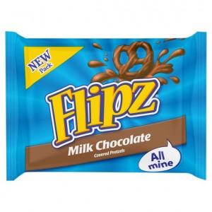 Flipz praclíky v mliečnej čokoláde 37g